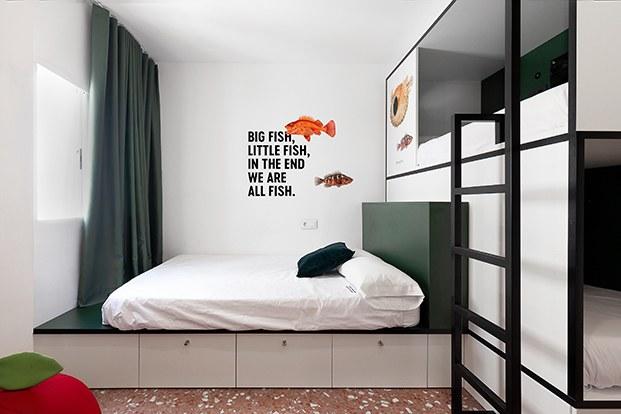 habitación hostel en madrid