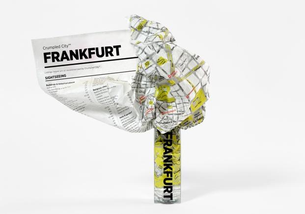 mapa de frankfurt de papel tyvek - diariodesign