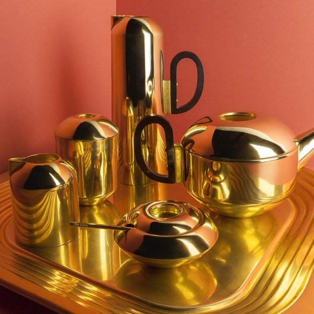 Tom Dixon set de té dorado - diariodesign