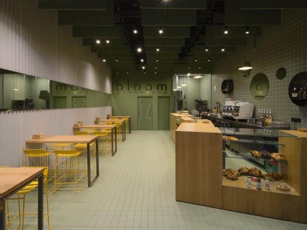 bloom cafe barakaldo garmendia cordero arquitectos diariodesign virutas madera