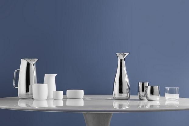 Stelton jarras de plata y porcelana - diariodesign