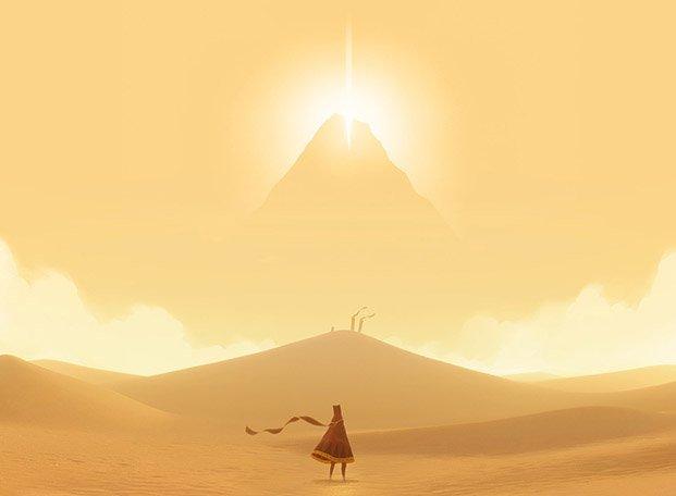 journey videojuegos y diseño paisaje montaña diariodesign