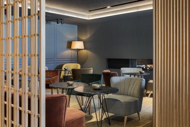 mesas de mármol hotel park piolets interiorismo y esquí diariodesign