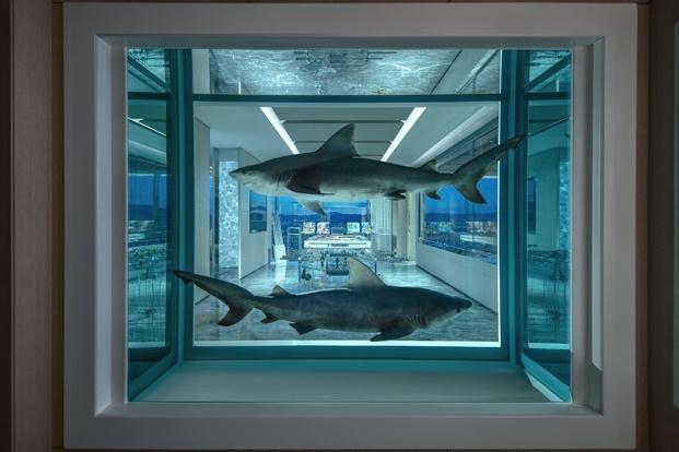 piscina tiburones damien hirst las vegas