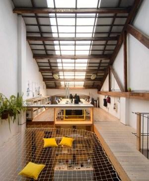 loca studio red zona de trabajo madera pasarela diariodesign