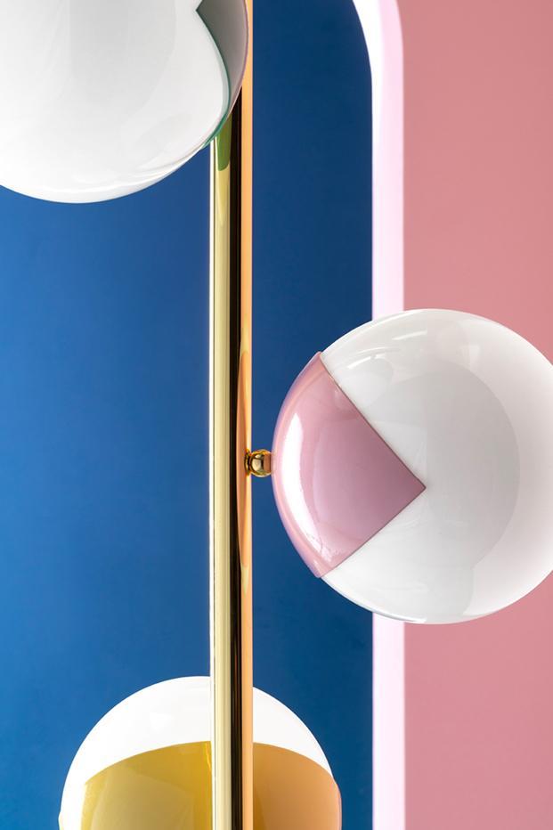 Lampara bolas redondas esferas Estilo Memphis diariodesign