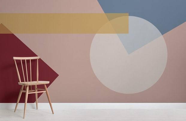 bauhaus wallpaper mural papeles pintados diariodesign
