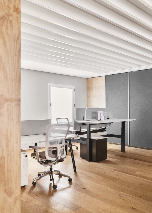 mobiliario de oficinas haworth showroom madrid diariodesign