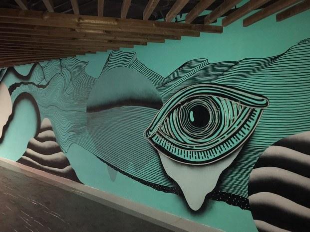mural joan tarragó hotel de diseño rec diariodesign