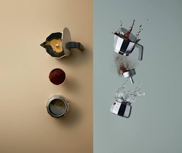Cafetera moka express Alessi David Chipperfield