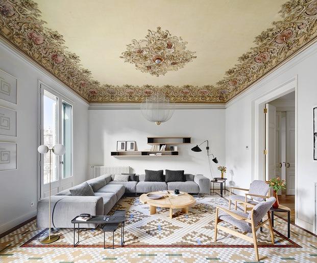 Interiorismo modernista Casa Burés Eixample Barcelona