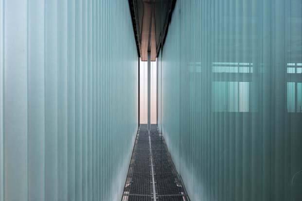 Edificio acristalado arquitectura industrial