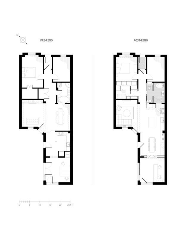 planos apartamento en montreal hutchison flat diariodesign