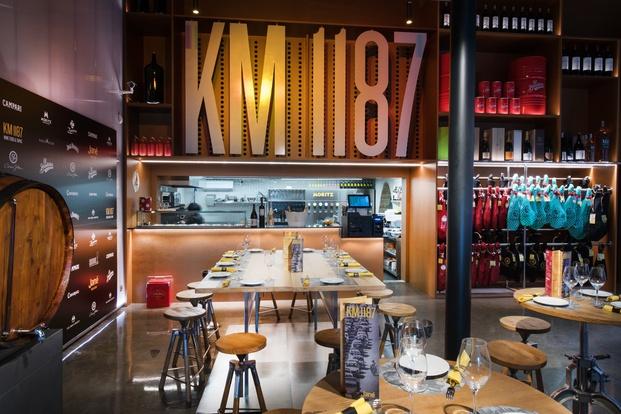 Interior espacio gastronómico KM 1187 Jané Winestore