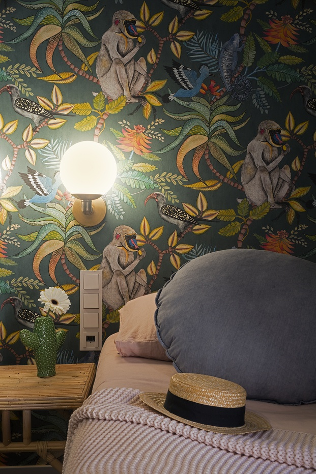 papel de pared monos y plantas