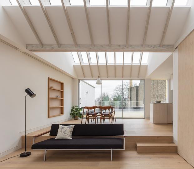 salón ático en londres vine architecture studio diariodesign