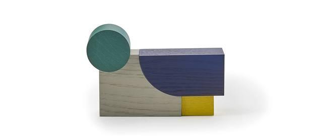 Objeto decorativo geometrías madera Sancal 2019
