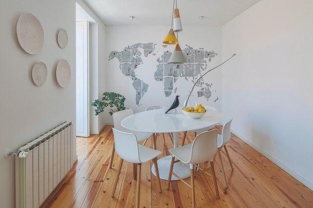 comedor piso de estilo nórdico lisboa diariodesign