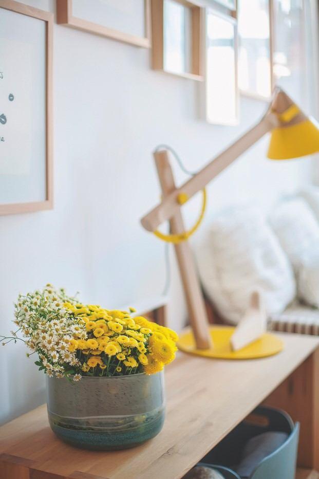 detalle flores piso de estilo nórdico lisboa diariodesign