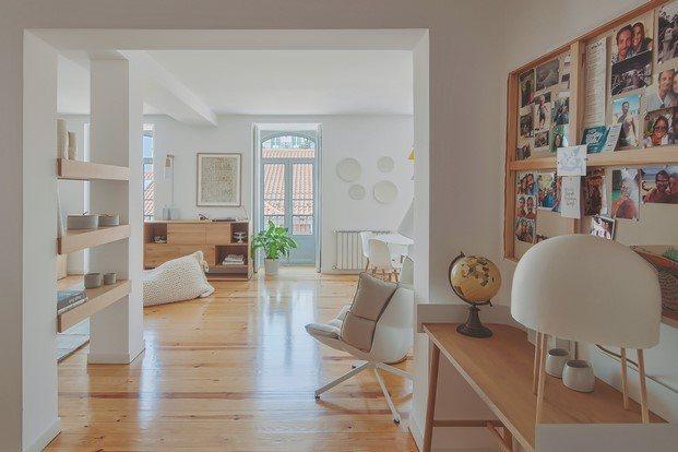 entrada piso de estilo nórdico lisboa diariodesign