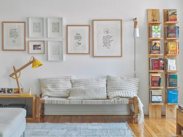 ilustraciones decoración piso de estilo nórdico en lisboa diariodesign