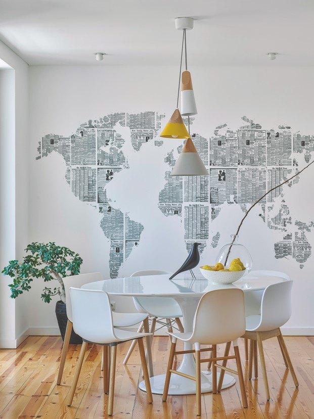 mural de pared casa estilo nórdico diariodesign