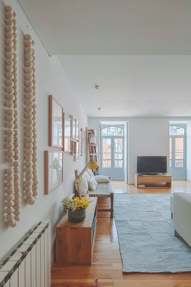 salón piso de estilo nórdico lisboa diariodesign