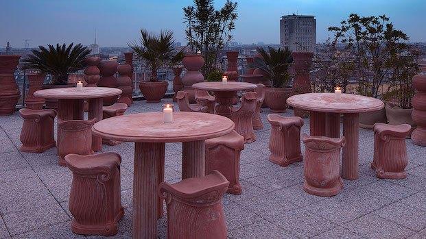 Mesas de la terraza. MasQue Espacio diariodesign