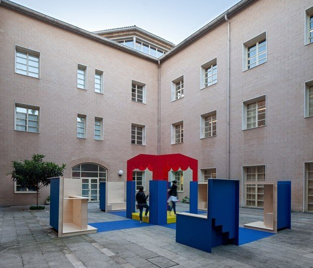 Instalación festival de arquitectura en Logroño Concéntrico