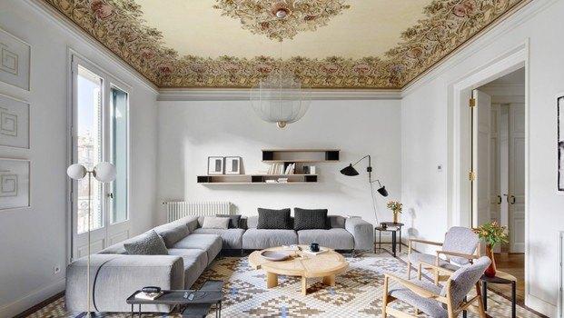 Salón de estilo modernista