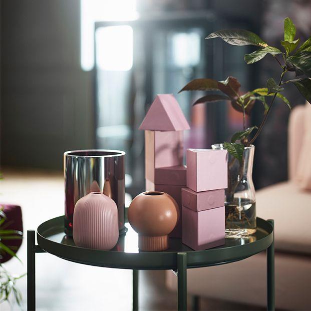 Colección de jarrones Imna Bermúdez para IKEA colores pastel formas geométricas
