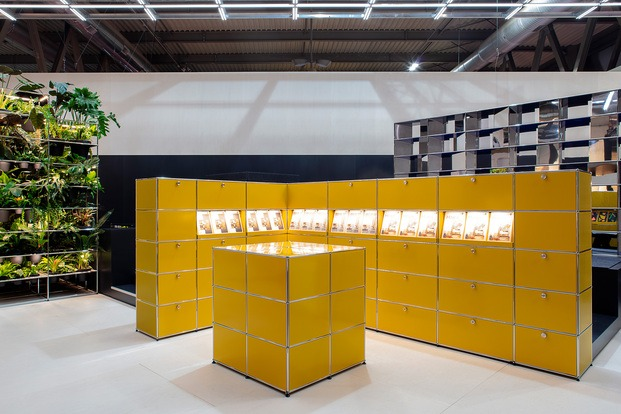 Stand de USM en Milan 2019. Muebles de oficina modernos