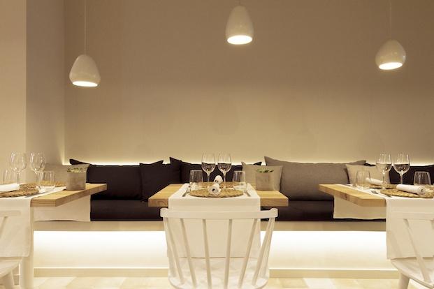 Iluminación del local restaurante Pinzell diariodesign.