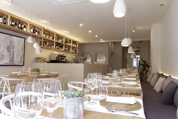 Vista de la barra restaurante Pinzell diariodesign.