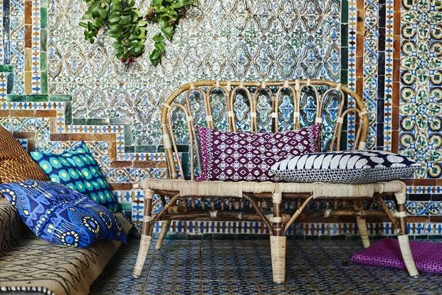 Cojines inspiración indonesia Piet Hein Eek para IKEA Jassa