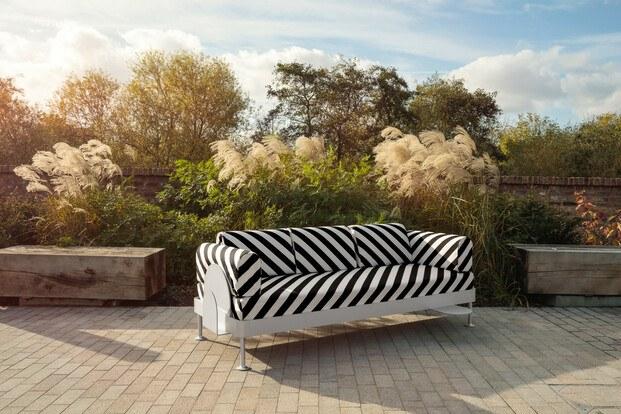 Sofá cama de Tom Dixon para Ikea con tapicería de Bemz