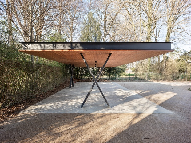 exterior parking casa de madera en suiza mr barrets house diariodesign