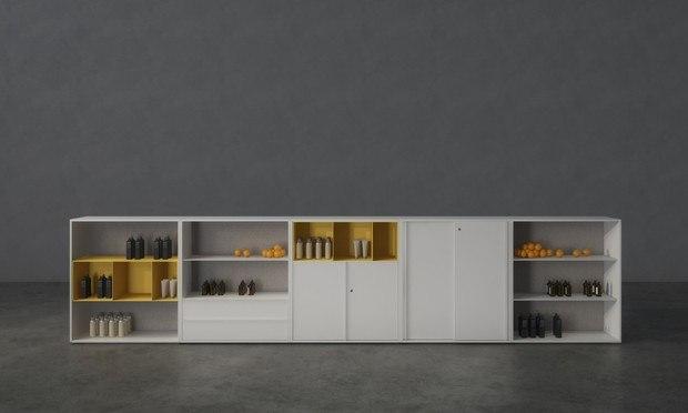 JG Open Systems Sistema de Almacenaje para oficinas 60/40 diseñado por Ovicuo Design BCN Diariodesign
