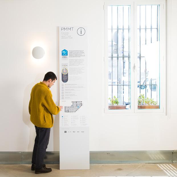 señalética nuevas oficinas PMMT Barcelona diariodesign