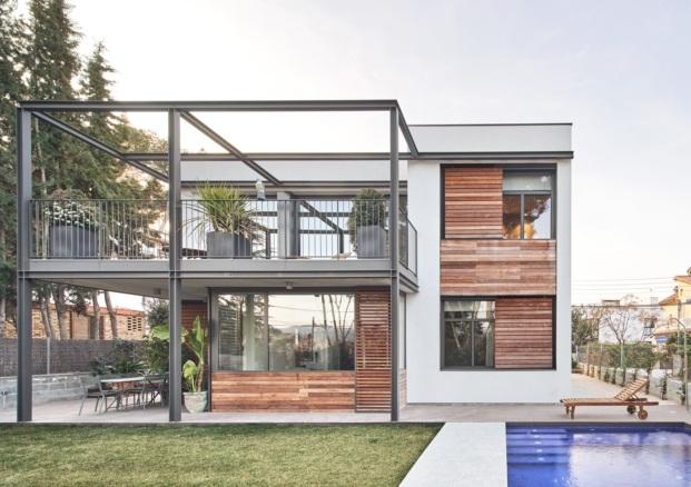 casa en sant cugat del valles f2m arquitectura diariodesign jardin