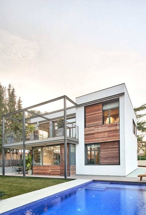 casa en sant cugat del valles f2m arquitectura diariodesign madera