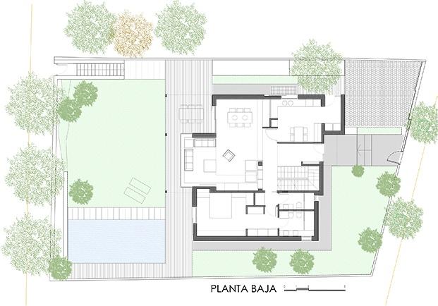casa en sant cugat del valles f2m arquitectura diariodesign planta baja