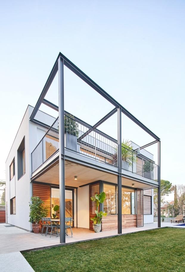 casa en sant cugat del valles f2m arquitectura diariodesign porche