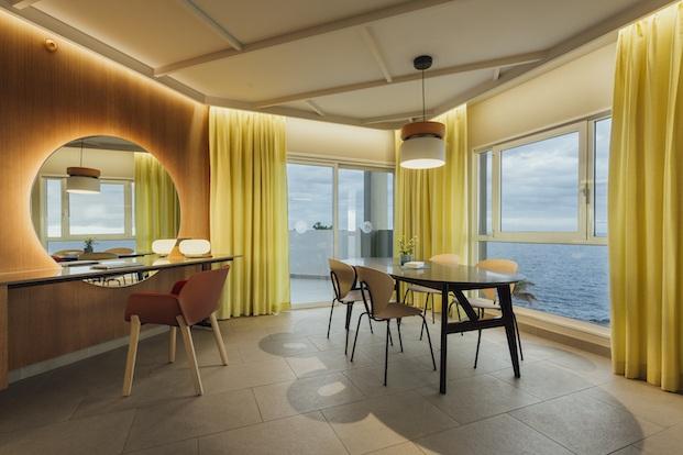 Gama de colores y texturas Roca Nivaria Gran Hotel.