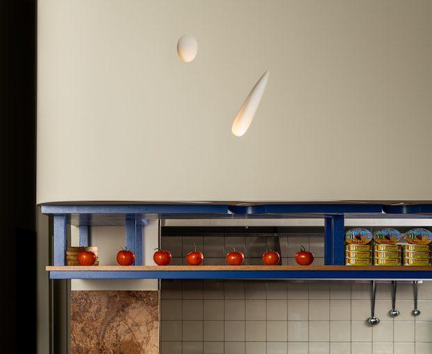 Diseño de estantería para exposición de productos Como Taperia