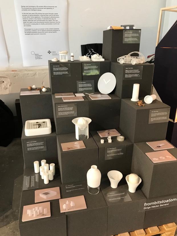 frombitstoatoms diseño impreso en 3D exposición