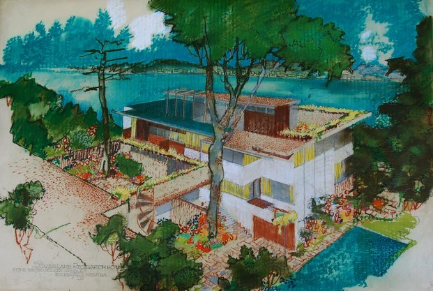 dibujo reproducción VDL Research House Richard Neutra diariodesign