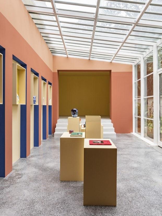 tienda villa noailles con techo de cristal diariodesign