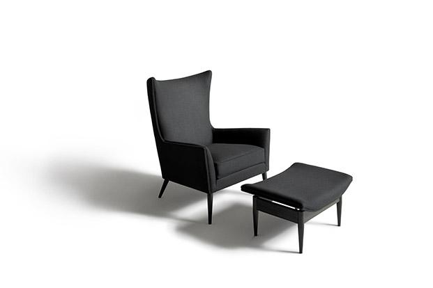 sillón wingback de paul mccobb para de padova diariodesign