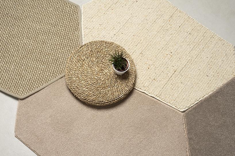 Diseño sostenible. Barcelona. Nutcreatives diseña Trencadís para Barcelona Rugs. Una colección de alfombras modulares.
